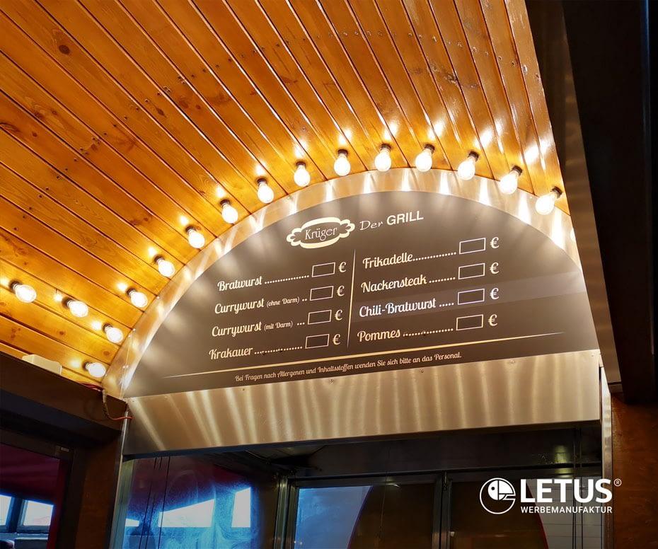 beleuchtete Preistafel in LED Technik