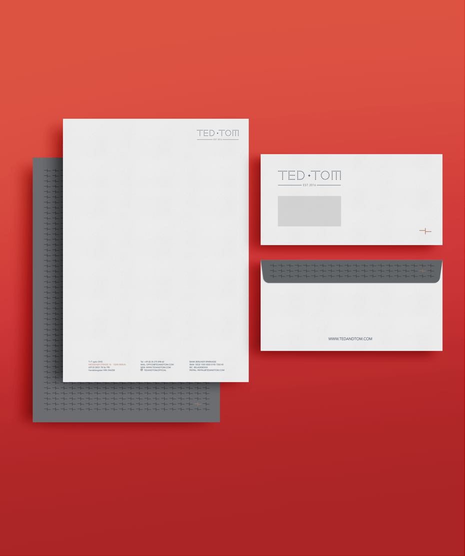 Druck Briefpapier & Umschlag - Fa. Ted+Tom
