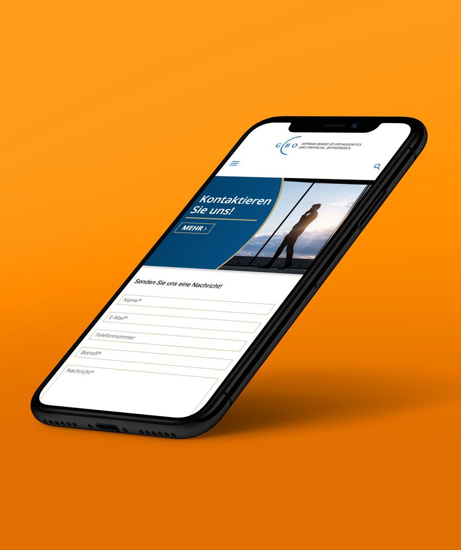 """Design einer Responsive-Webseite für """"GBO"""""""