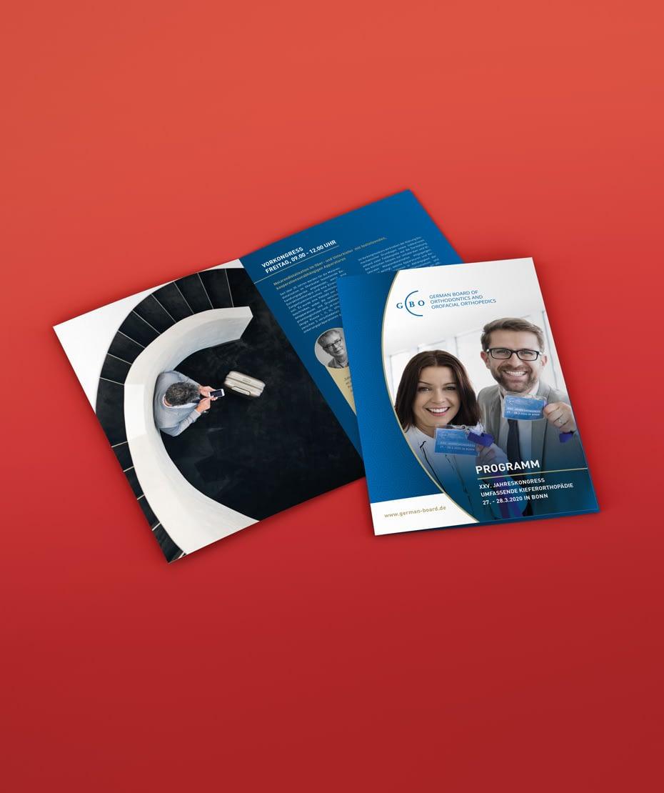 Flyer-, Karten- & Broschürendruck von Letus für GBO