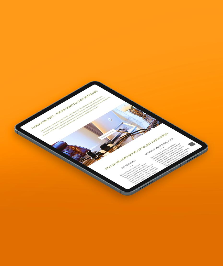 """Webdesign für """"Heckert"""" im Responsive Design"""