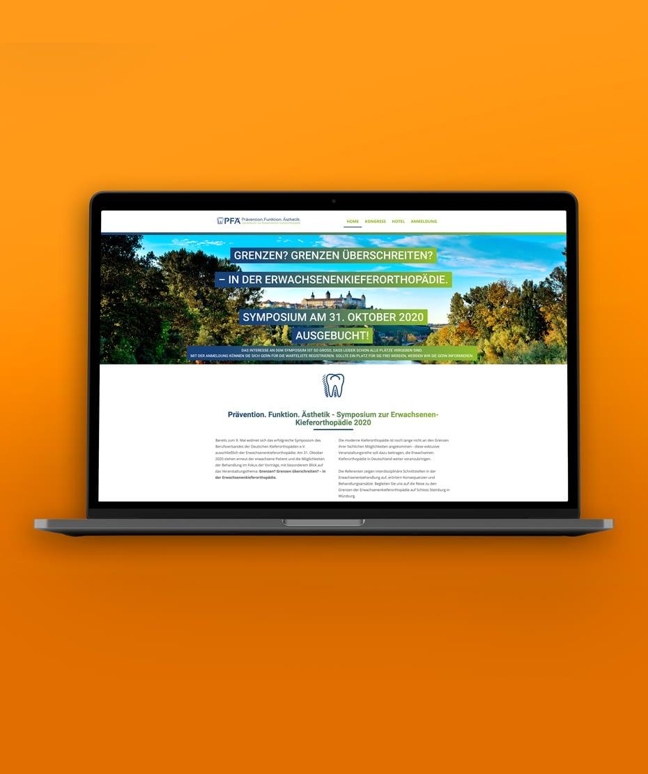 """Website-Gestaltung """"PFÄ"""" im Responsive Design"""