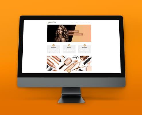 """Webseiten-Entwicklung für """"Hairlounge Kourie"""""""