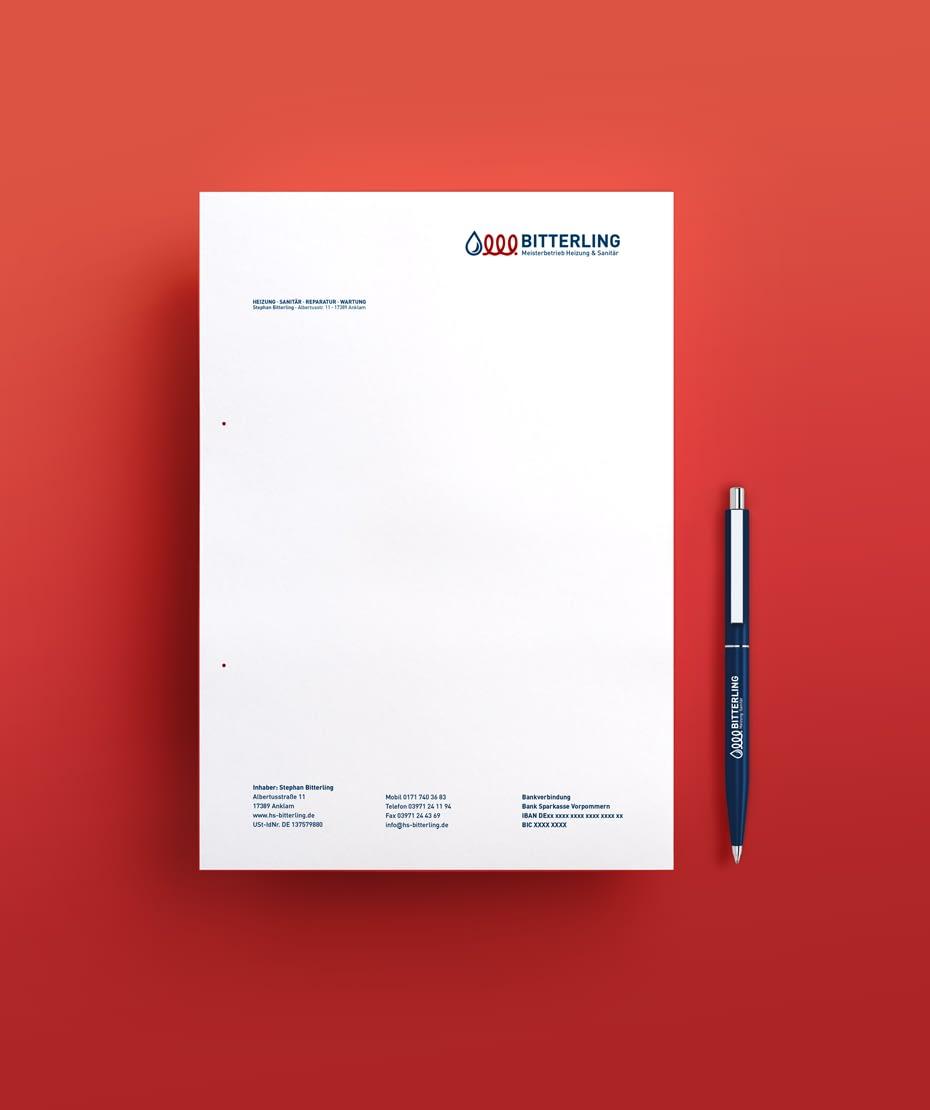 Briefpapier mit Logodesign von Letus
