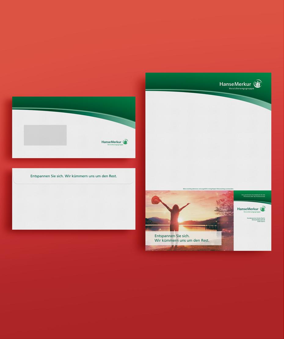 Druck Briefpapier & Umschläge im Unternehmensdesign