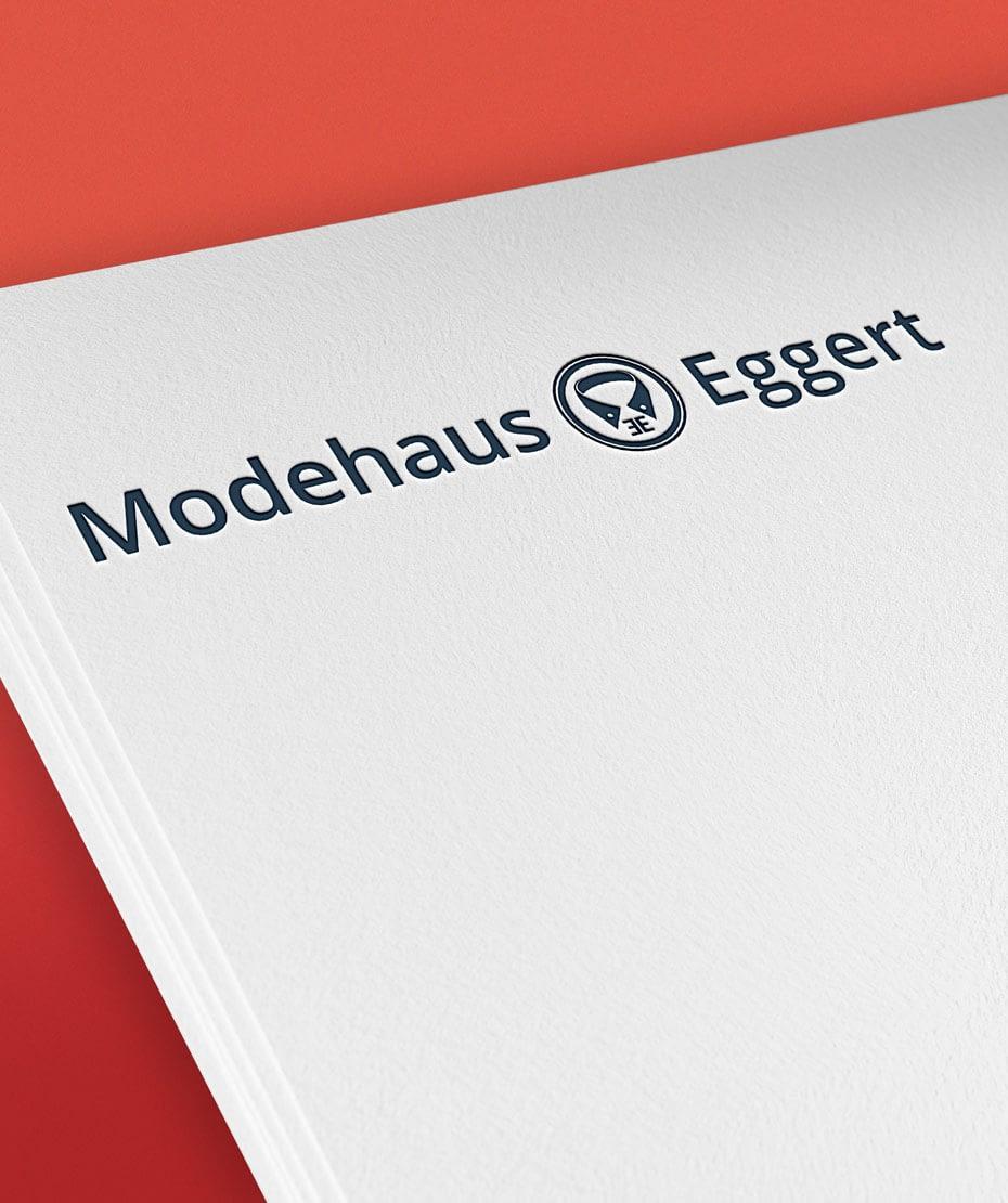 Logo-Entwicklung für Modehaus Eggert
