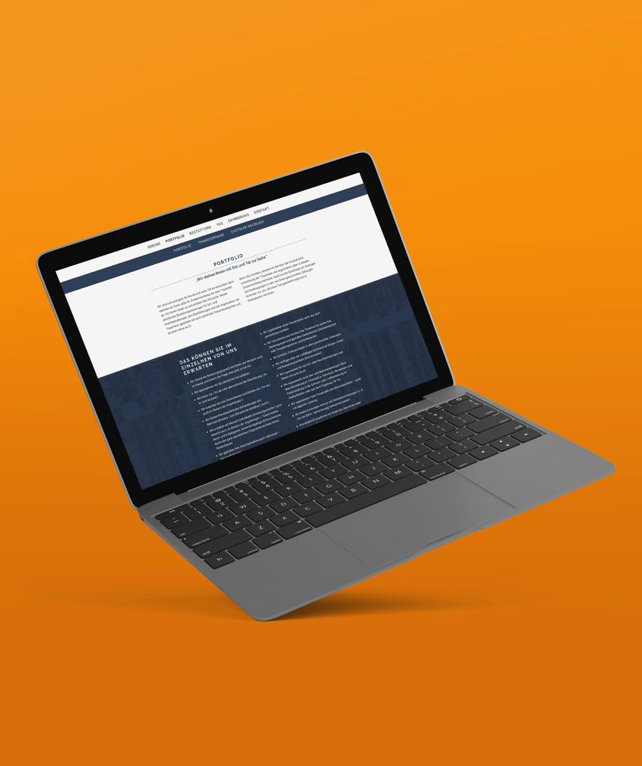 """Gestaltung einer Webseite für """"Greiwe"""""""