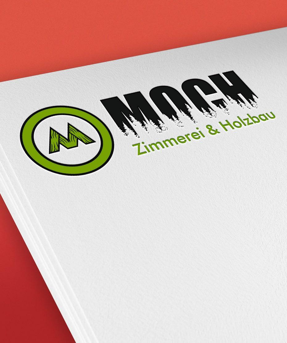 Zimmerei Moch - Logodesign von Letus