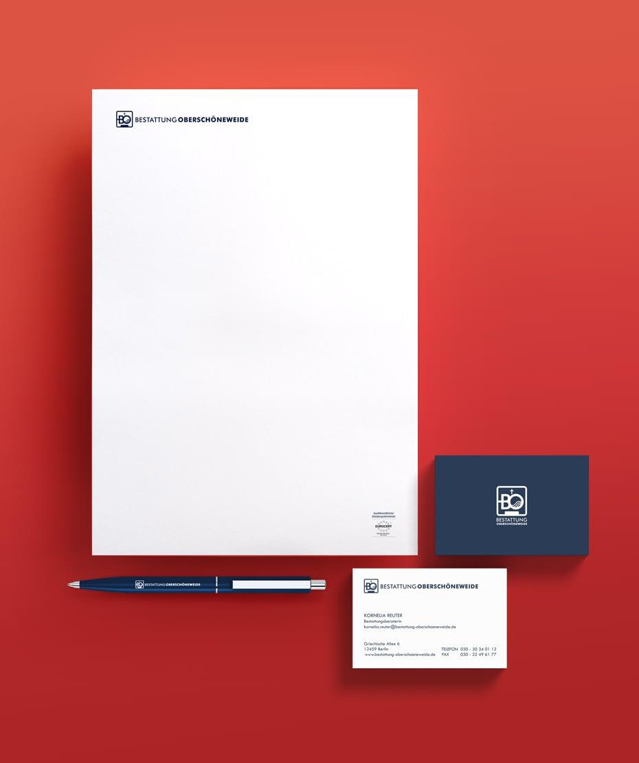 Logo-Entwicklung & Werbeartikel - Bestattung Oberschöneweide