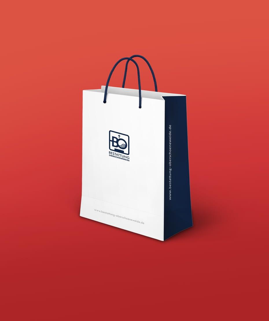 Werbetasche mit Logodesign - Bestattung Oberschöneweide