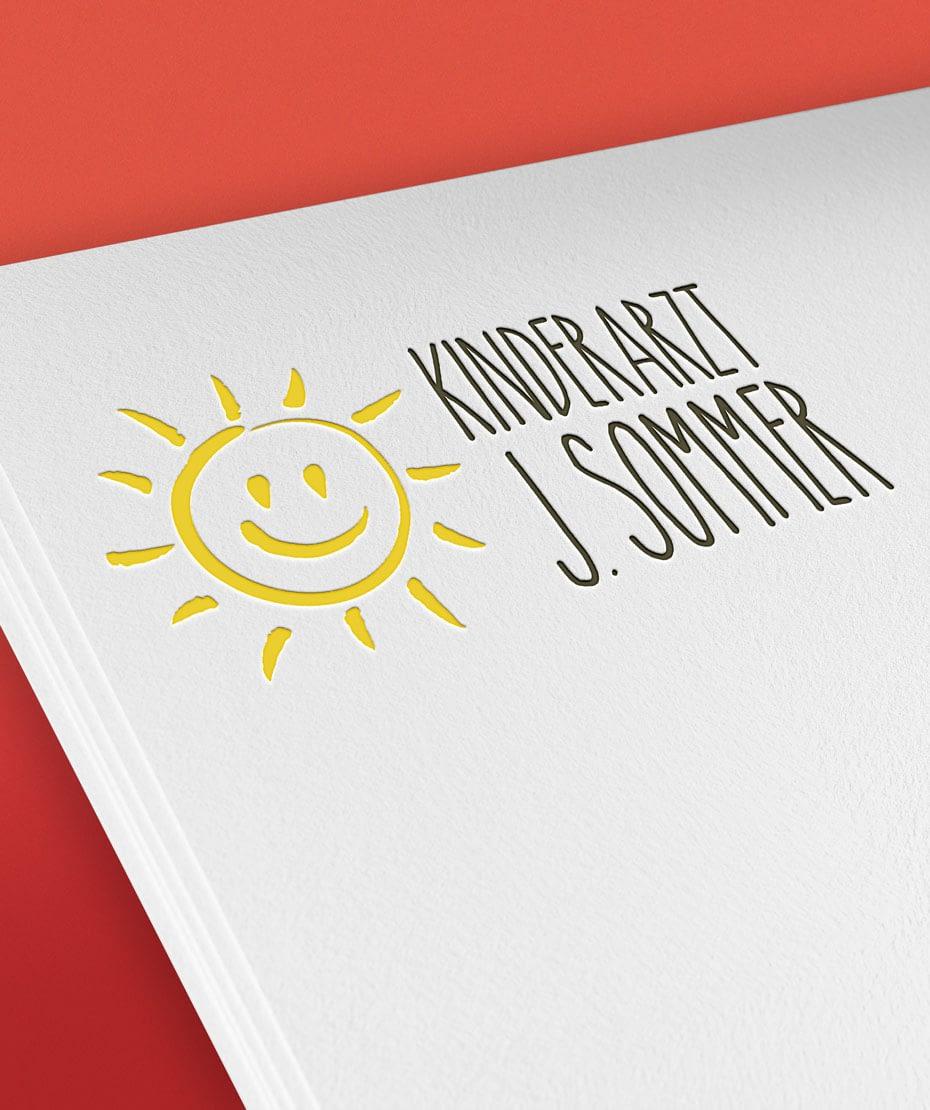 Kinderarzt J. Sommer - Logodesign von Letus