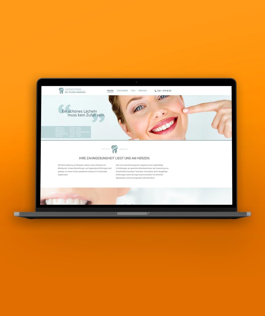 "Website-Gestaltung ""Dr. Henning"" im Responsive Design"