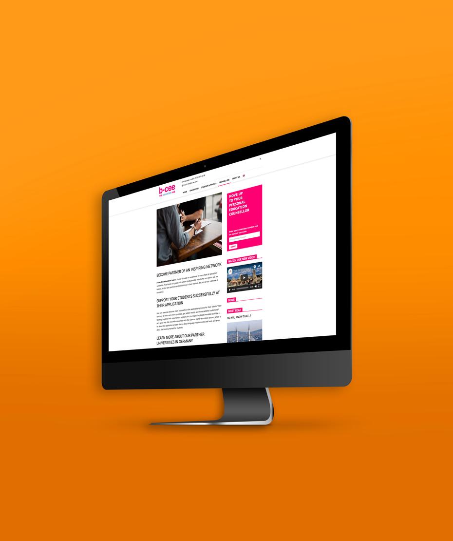 """Webseiten-Erstellung für """"B-CEE"""""""