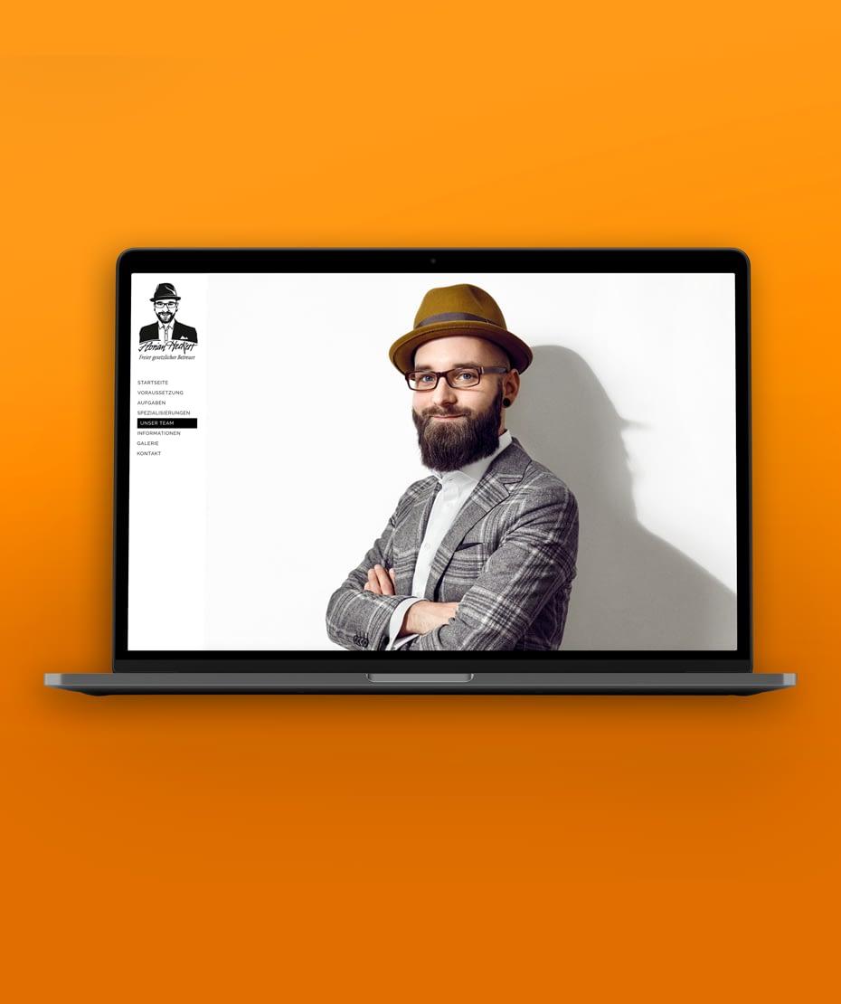 """Website-Gestaltung """"Heckert"""" in schlichtem Stil"""