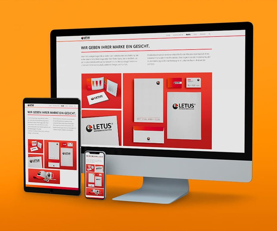 Webdesign von LETUS
