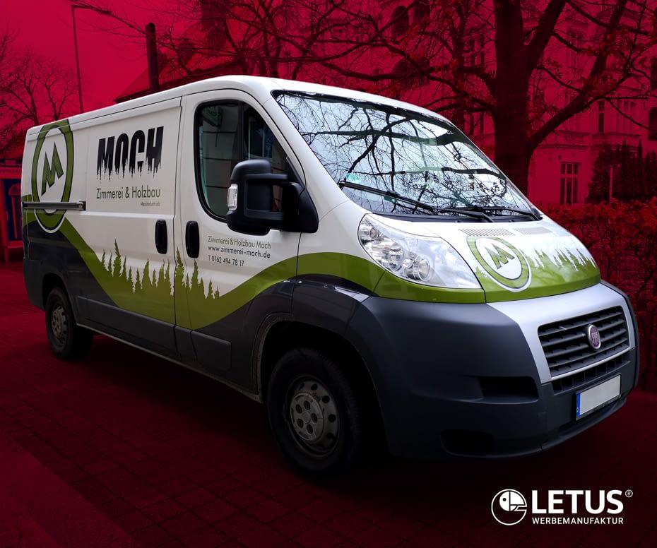 """Folien-Design für Fahrzeug der Firma """"Moch"""""""